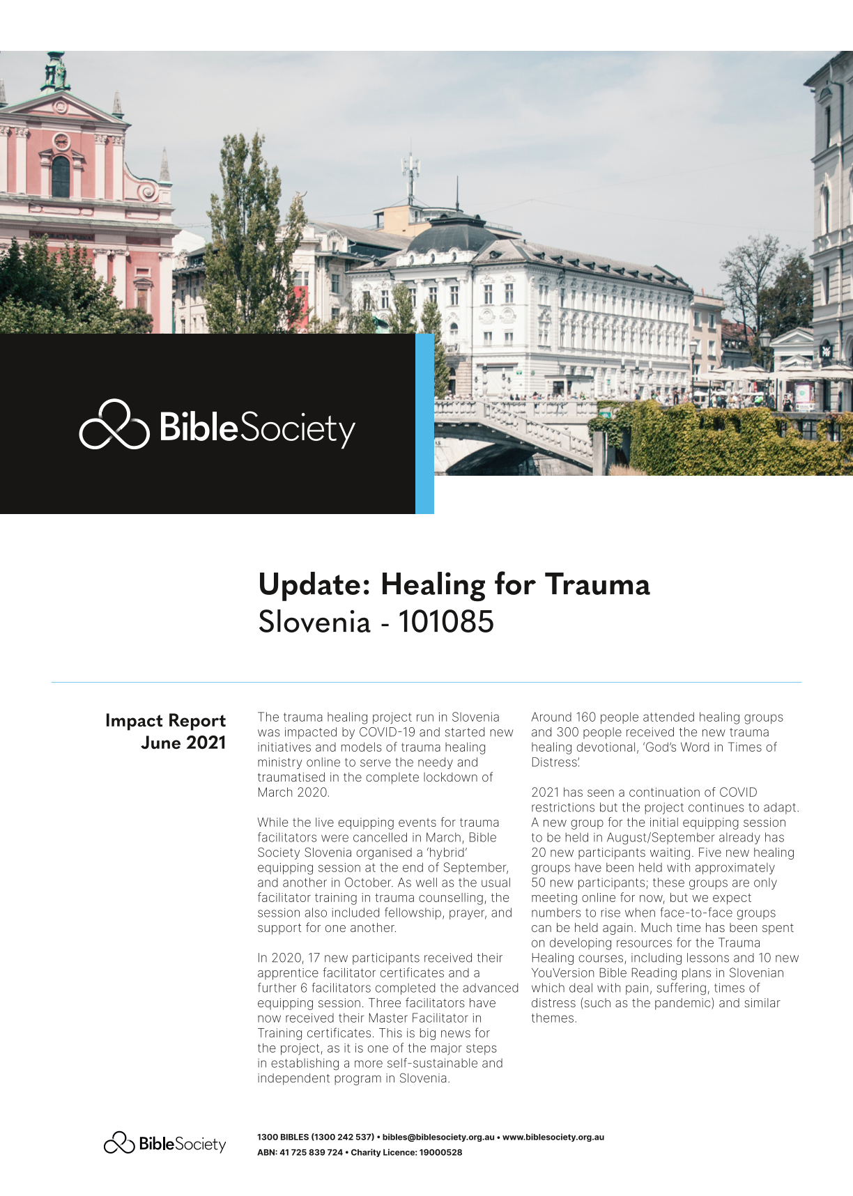 Slovenia Update: Healing for Trauma